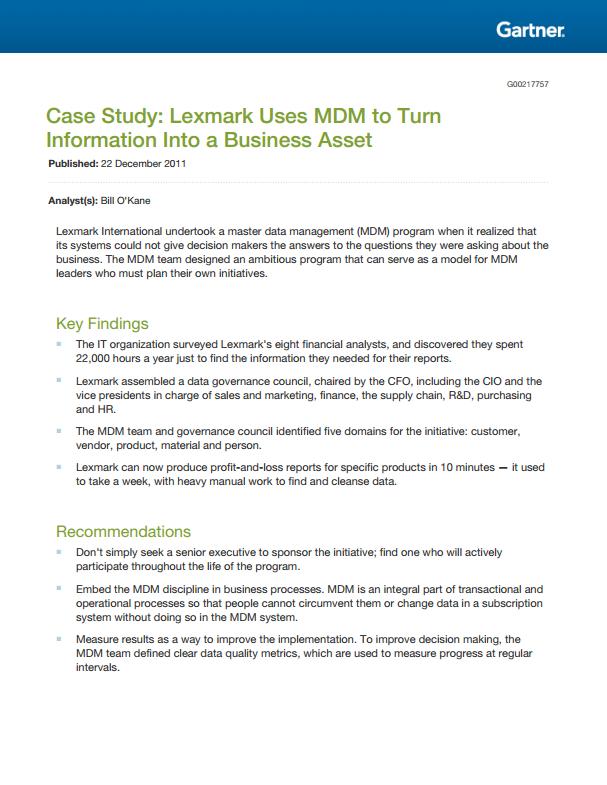 master data management case study